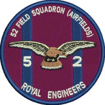 52 FD SQN AIRFIELDS EMBROIDERED BADGE